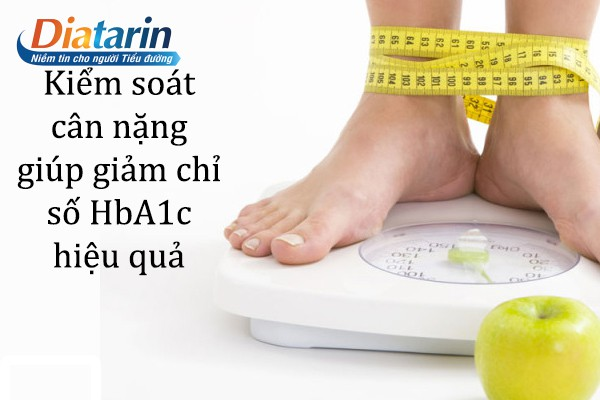 Kiểm soát cân nặng giúp hạn chỉ số HbA1c hiệu quả