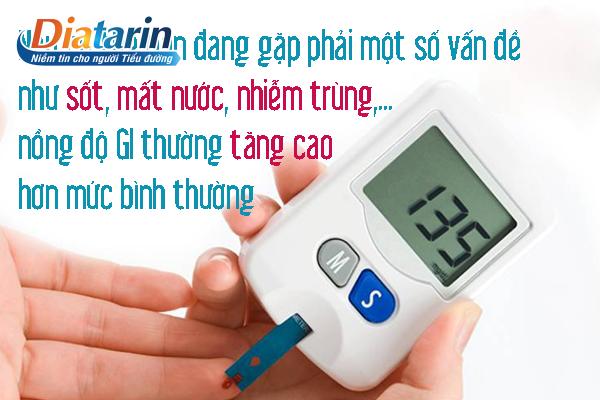GI tăng cao hơn mức bình thường làm cơ thể gặp một số vấn đề như sốt mất nước