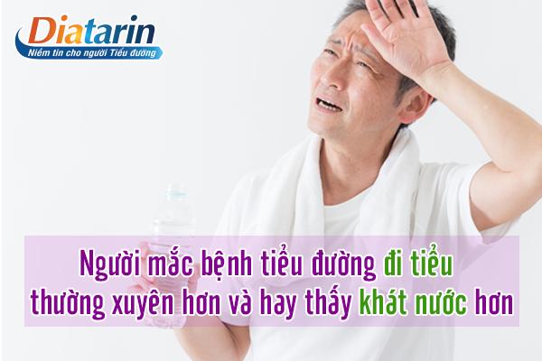 Người mắc bệnh tiểu đường thường xuyên thấy khát nước
