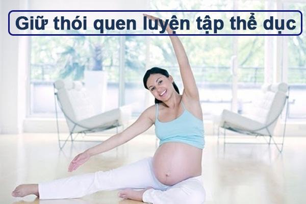 Phòng tránh tiểu đường thai kỳ bằng thói quen luyện tập thể dục