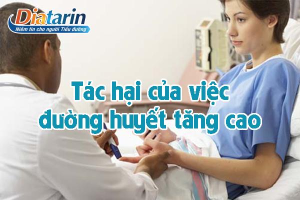 Tác hại của việc đường huyết tăng cao
