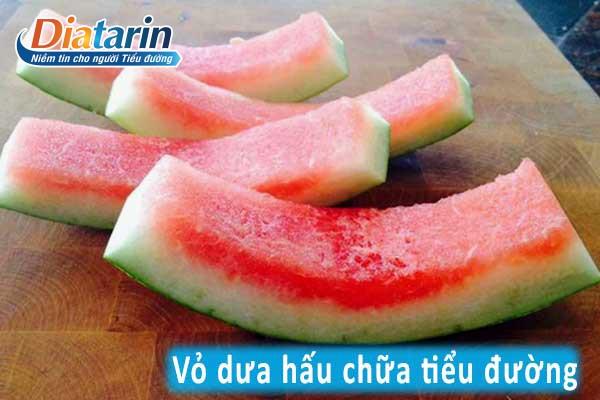 Bài thuốc chữa bệnh tiểu đường bằng vỏ quả dưa hấu