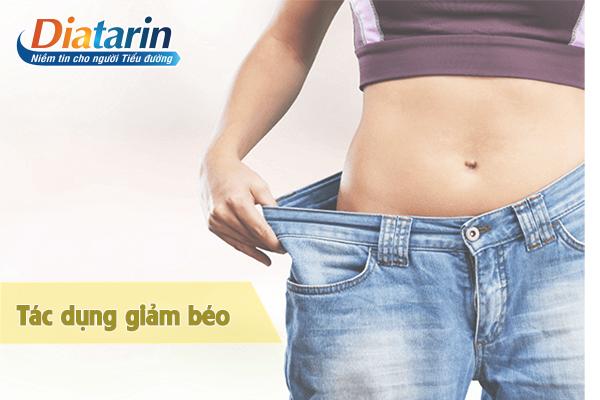 Tác dụng giảm béo với người bị tiểu đường